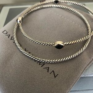 NWT David Yurman Classic Onyx Bracelet Set